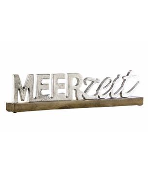 Schriftzug-meerzeit-aus-Aluminium-mit-Sockel-aus-Holz_Wohnaccessoire_gruenzimmer-shop_strandkoerbe-und-gartenmoebel