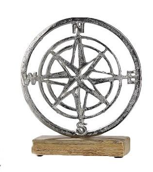 Kompass-aus-Aluminium-mit-Sockel-aus-Holz_Wohnaccessoire_gruenzimmer-shop_strandkoerbe-und-gartenmoebel